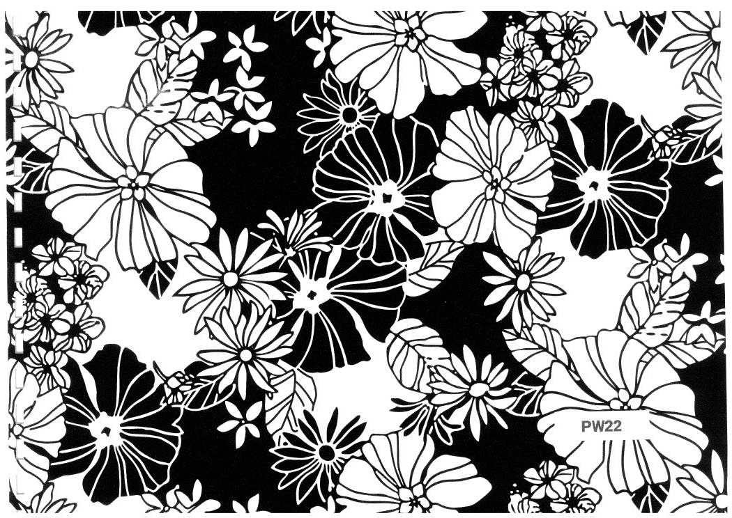 Counter roll black and white flowers pw22 goldwing gom counter roll black and white flowers mightylinksfo