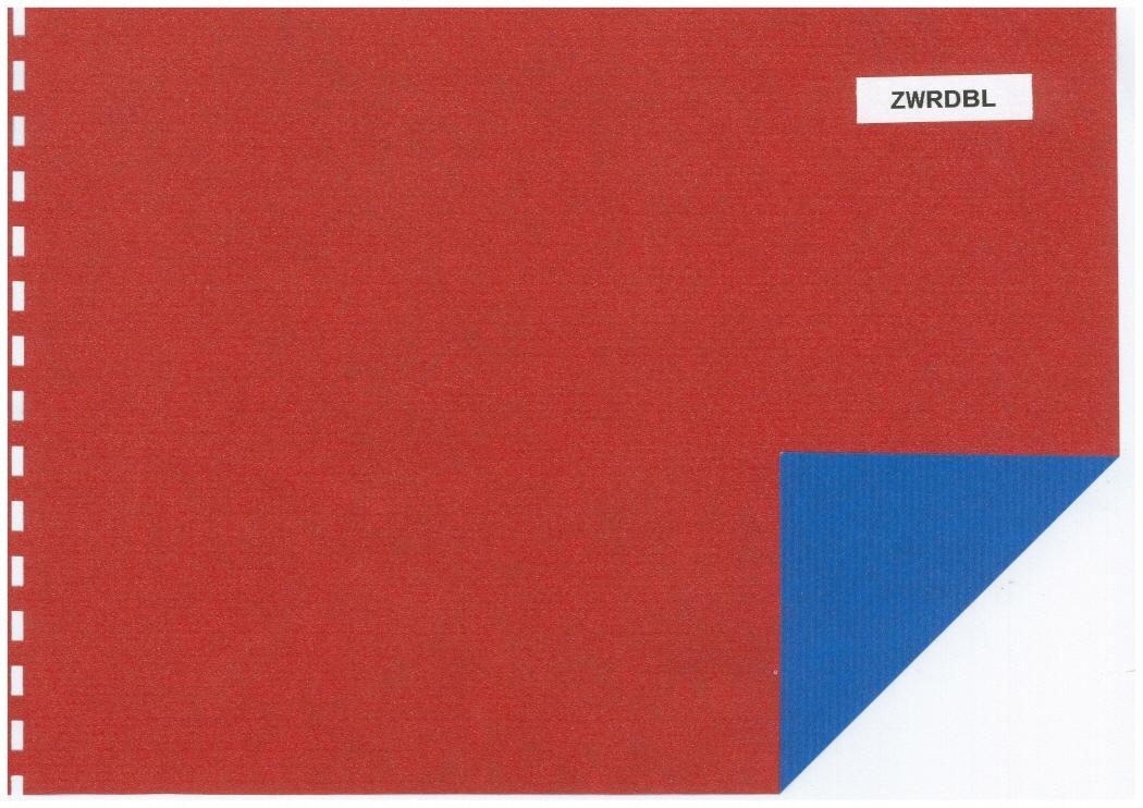 counter roll 2 colour redblue
